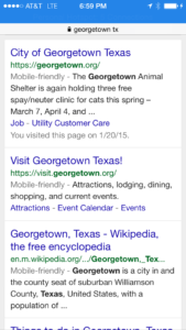 Google Mobile-friendly Search Results